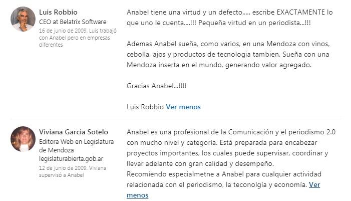 Recomendaciones de Anabel González Ocáterli como redactora periodística